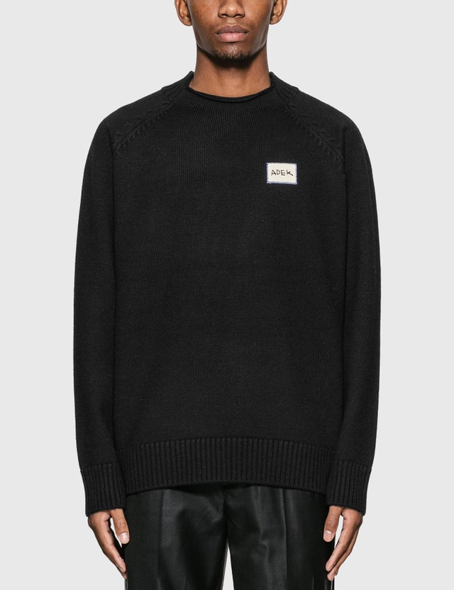 Ader Error Oversized Knitted Sweater Black Men