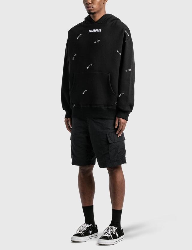 Pleasures Safety Embroidered Hoodie Black Men