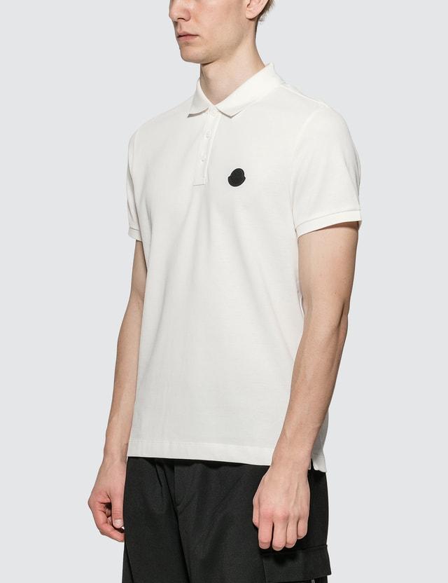 Moncler Classic Logo Polo White Men