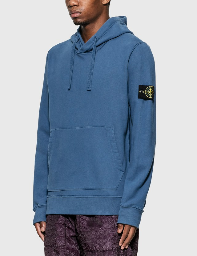 Stone Island Compass Patch Logo Classic Hoodie Black Men