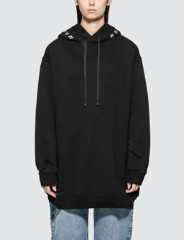 Maison Margiela Oversized Fleece Hoodie With Number Print