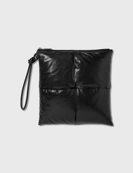 보테가 베네타 Bottega Veneta Maxi Intreccio Calf Leather Pouch