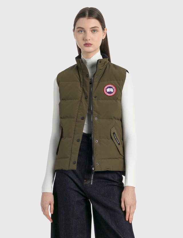 Canada Goose Freestyle Vest Military Green Women
