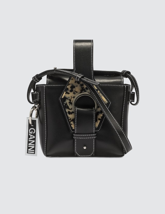 Ganni Leather Micro Tote Bag