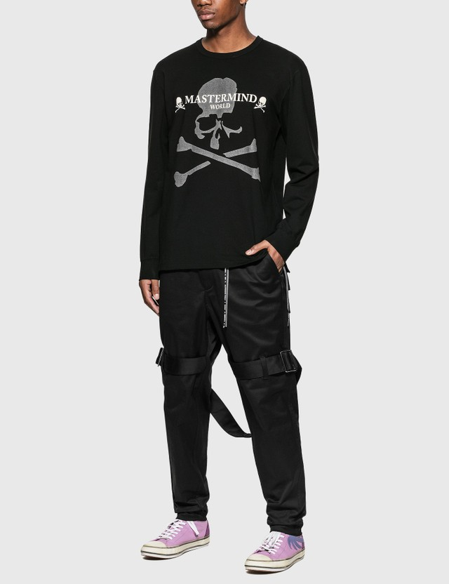 Mastermind World Reflective Logo Long Sleeve T-Shirt Black Men