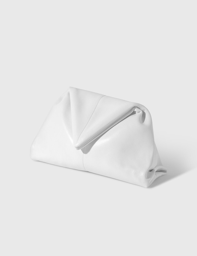 Bottega Veneta The Envelope Clutch Bianco-silver Women