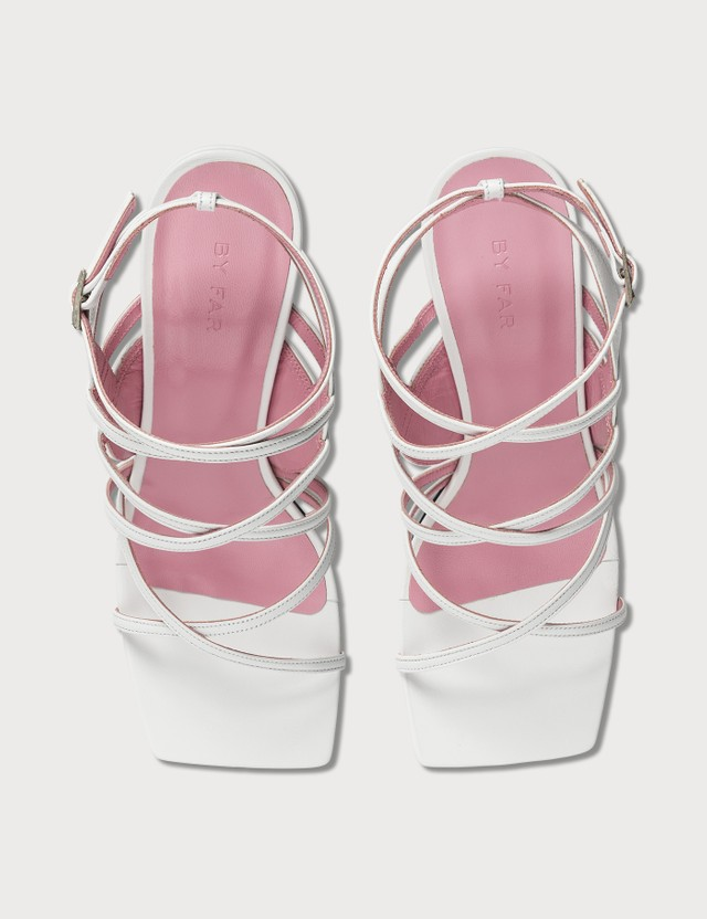 BY FAR Christina White Leather Sandals White Women