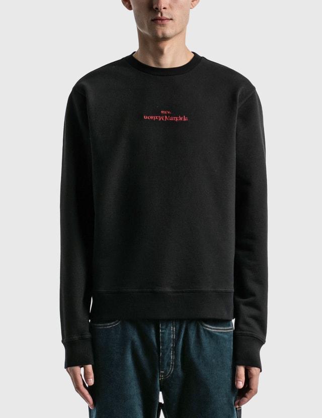 Maison Margiela Embroidered Logo Sweatshirt Black Men