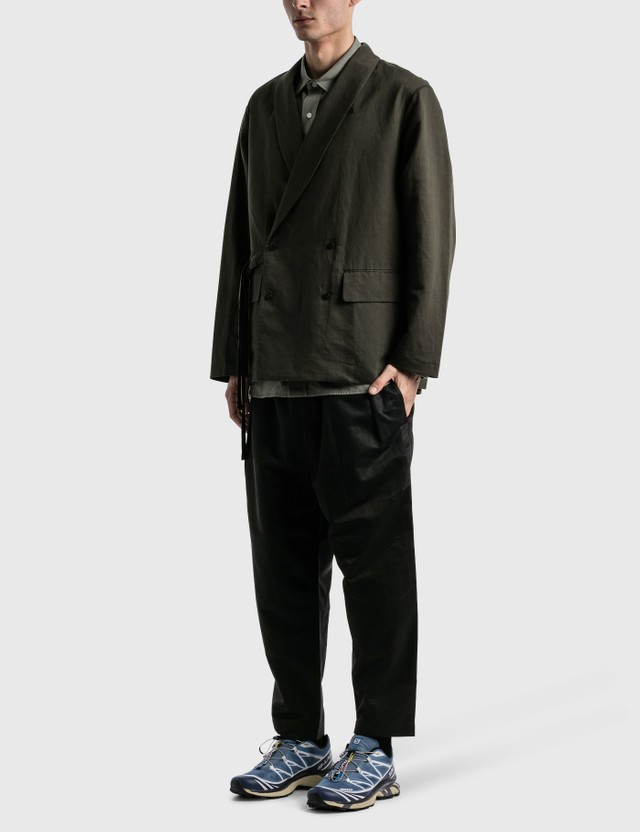 Meanswhile Duality Cloth Working Blazer Chacoal Men