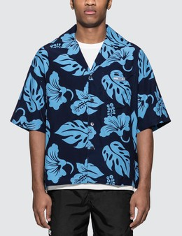 Prada Viscose Printed Bowling Shirt