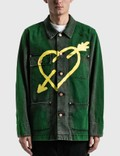 Palm Angels Pierced Heart Workwear Jacket 사진