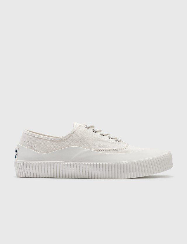 Maison Kitsune New Sole Laced Sneaker Ecru Men