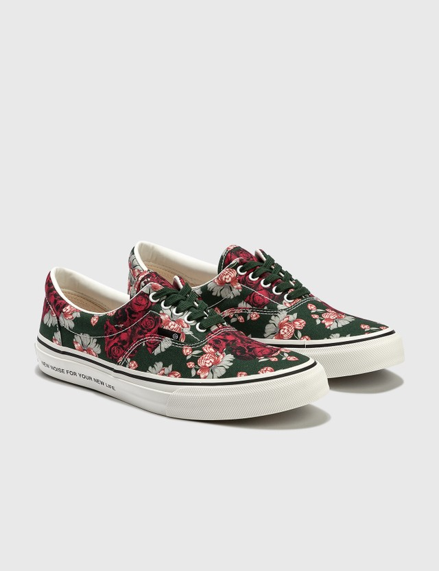 Undercover Printed Canvas Sneakers Green Base Men