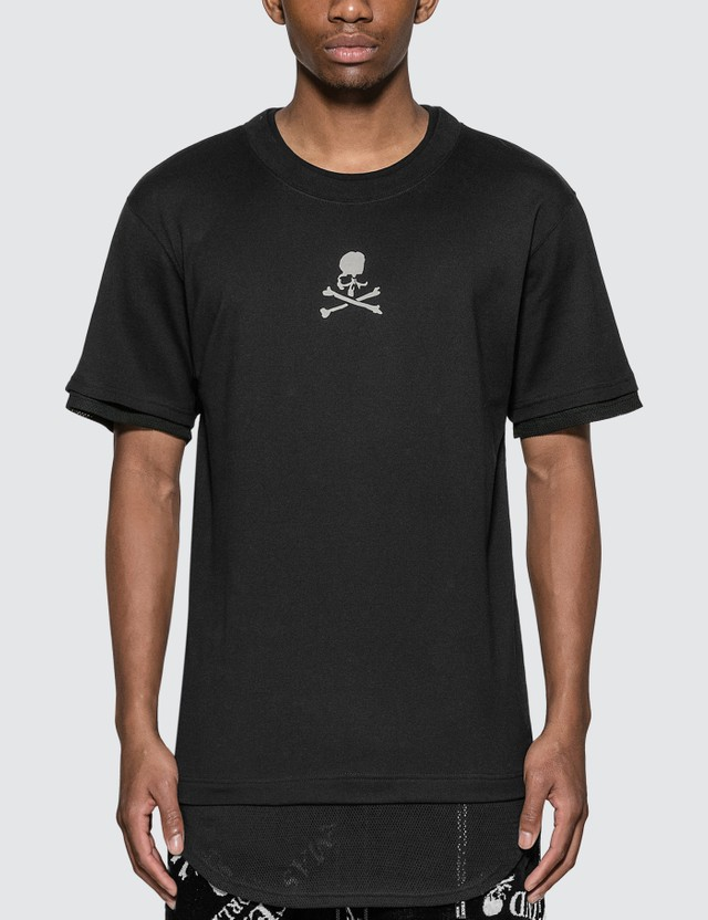 Mastermind World Mesh Layered Logo T-Shirt Black X Black Men