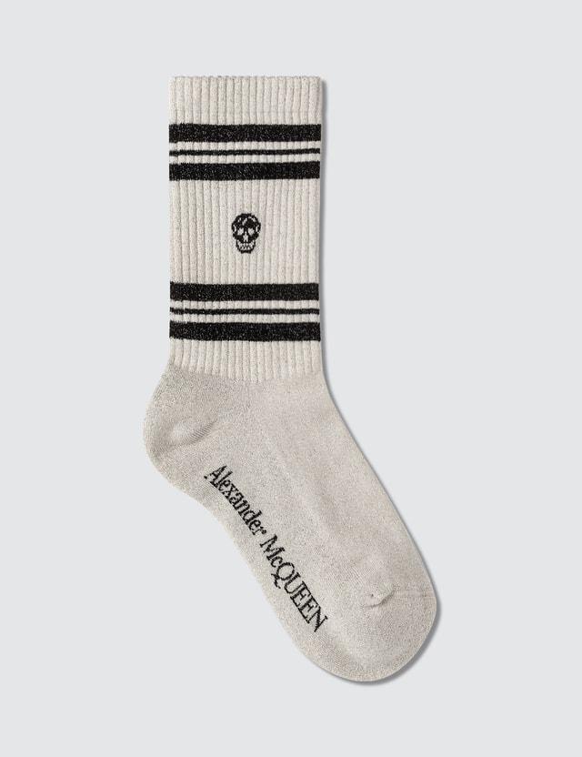 Alexander McQueen Stripe Skulls Socks