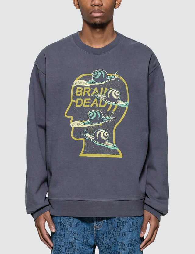 Brain Dead Snail Trail Crewneck