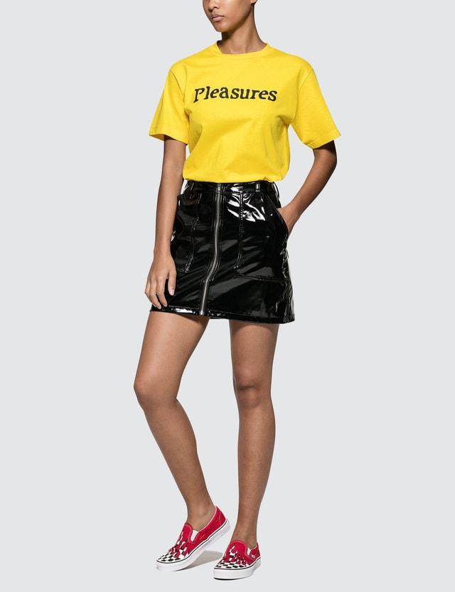Pleasures Bones T-shirt Yellow Women