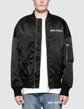 Palm Angels Logo Over Bomber Jacket Picture