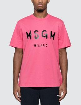 MSGM Brush Stroke Logo T-Shirt