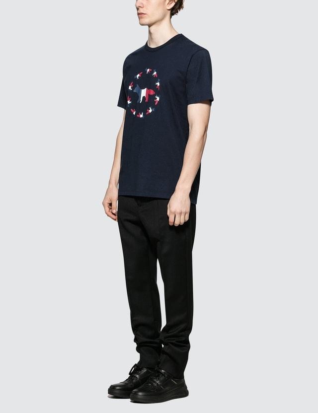 Maison Kitsune Tricolor Fox Flag S/S T-Shirt
