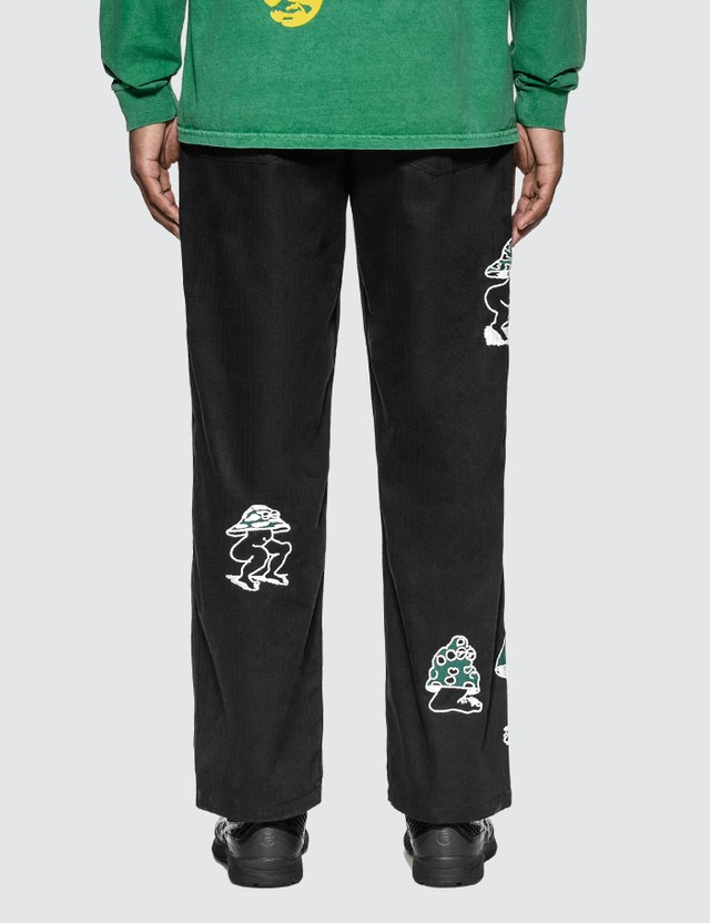Brain Dead Mushroom Embroidery Herringbone Military Pants