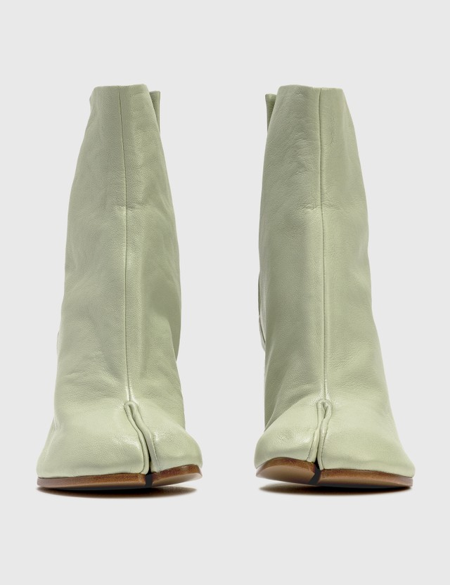 Maison Margiela Tabi Vintage Leather Boots Pistachio Green Women