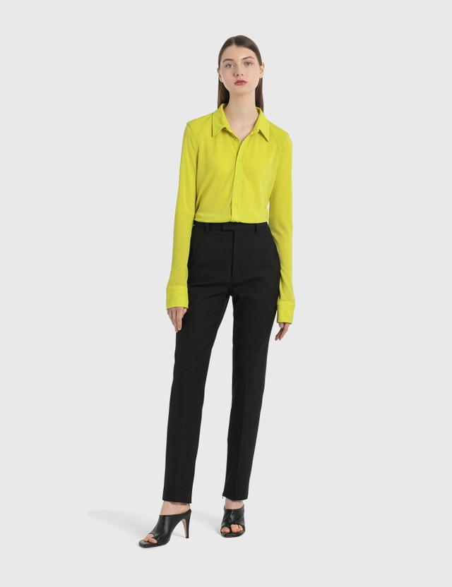 Bottega Veneta Wool Twill Pants Black Women