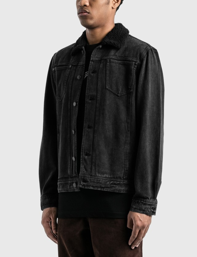 RIPNDIP Fucking Fuck Denim Sherpa Jacket Black Wash Men