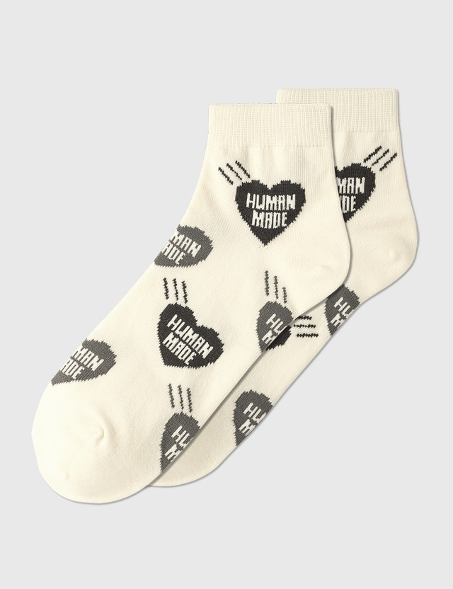 Human Made Short Heart Pattern Socks #1