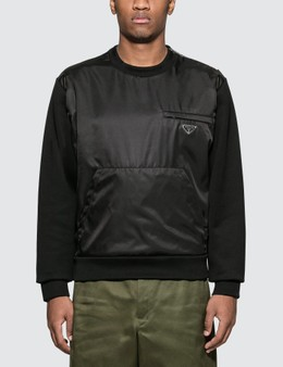Prada Nylon Cotton Sweatshirt