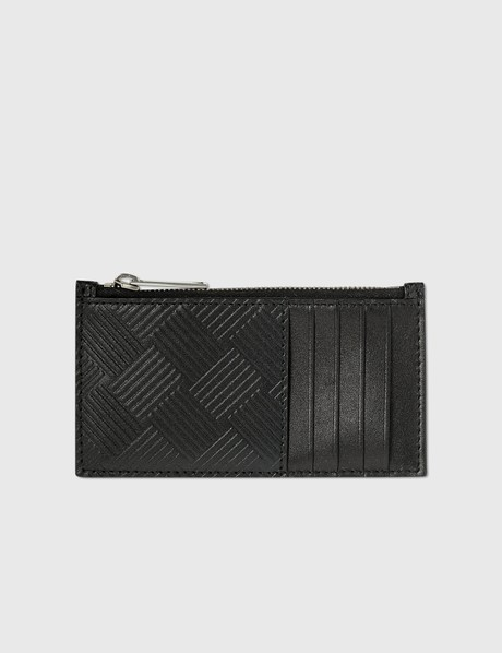 보테가 베네타 Bottega Veneta Intrecciato Textured Leather Zippered Card Case