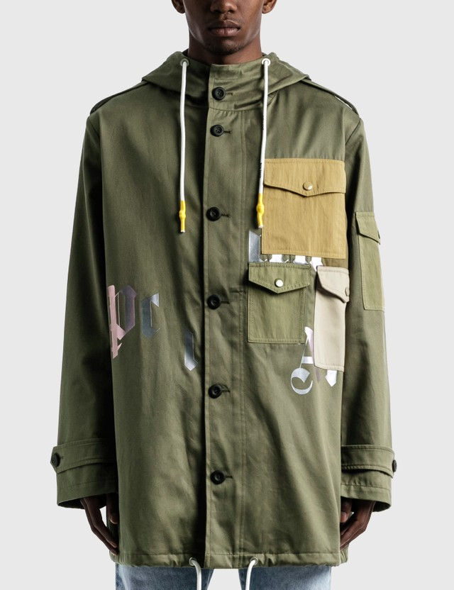 Palm Angels Military Parka Beige Men