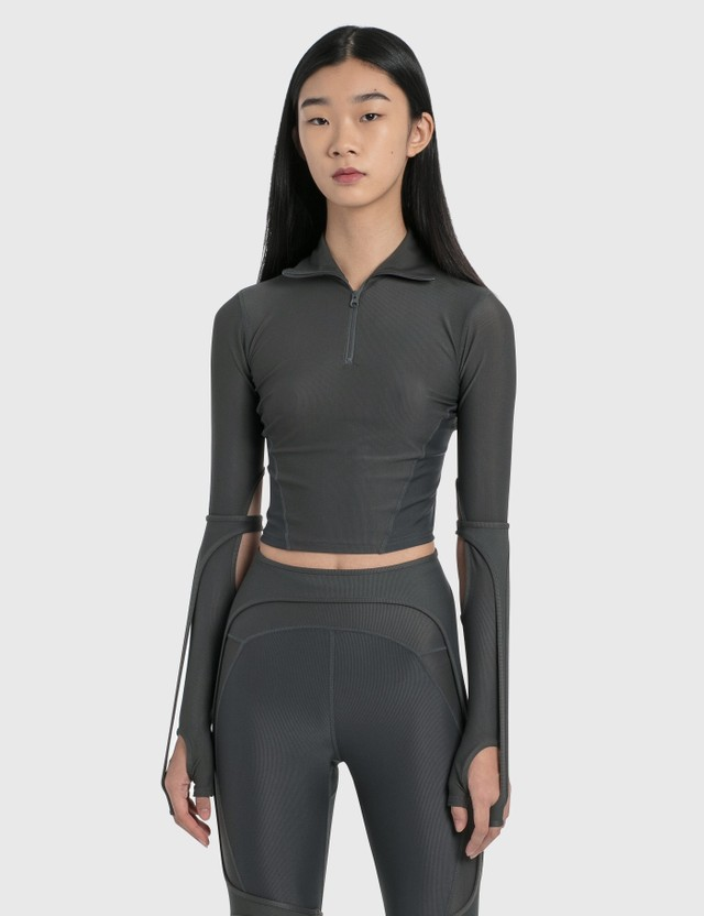 Hyein Seo Half-zip Sport Top Grey Women