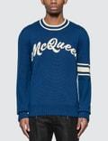 Alexander McQueen Mcqueen Intarsia Crew Neck Sweater Picutre