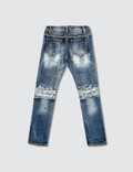 Haus of JR Clayton Patch Work Biker Denim Jeans
