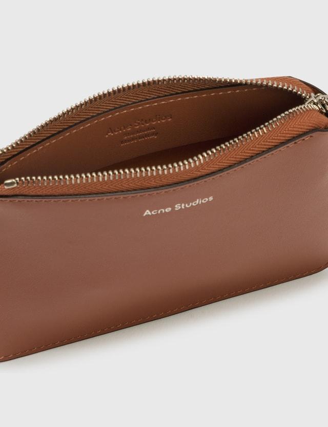 Acne Studios Malachite Zip Wallet Almond Brown Men