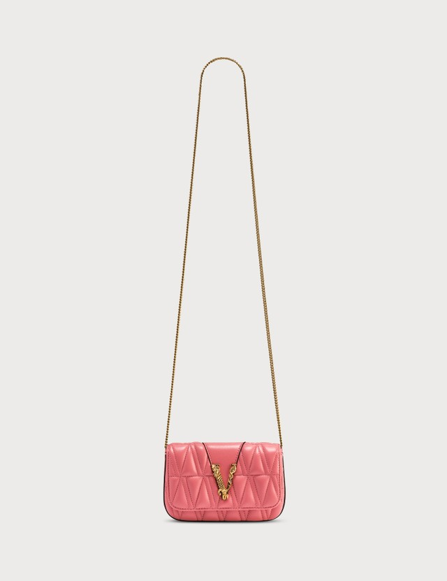 Versace Quilted Virtus Evening Bag