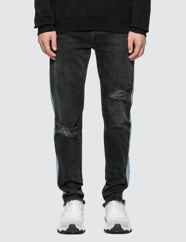 Marcelo Burlon Distressed Wash Band Slim Jeans