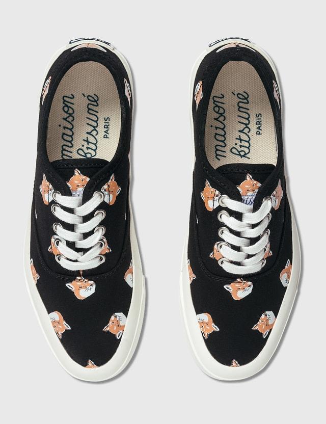 Maison Kitsune All Over Fox Head Laced Sneaker