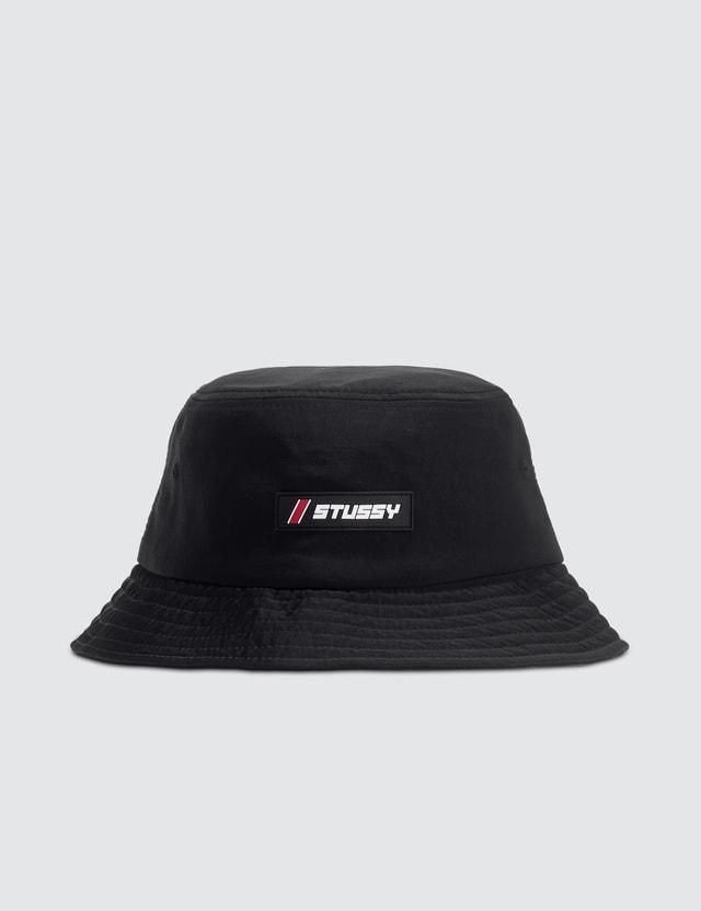 Stussy Nylon Rubber Patch Bucket Hat