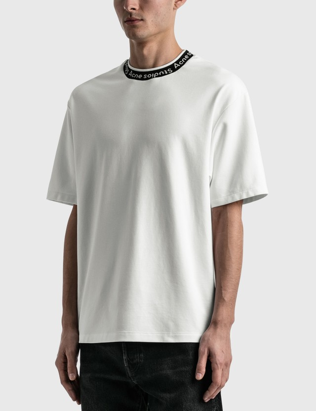 Acne Studios Logo Jacquard T-Shirt Optic White Men