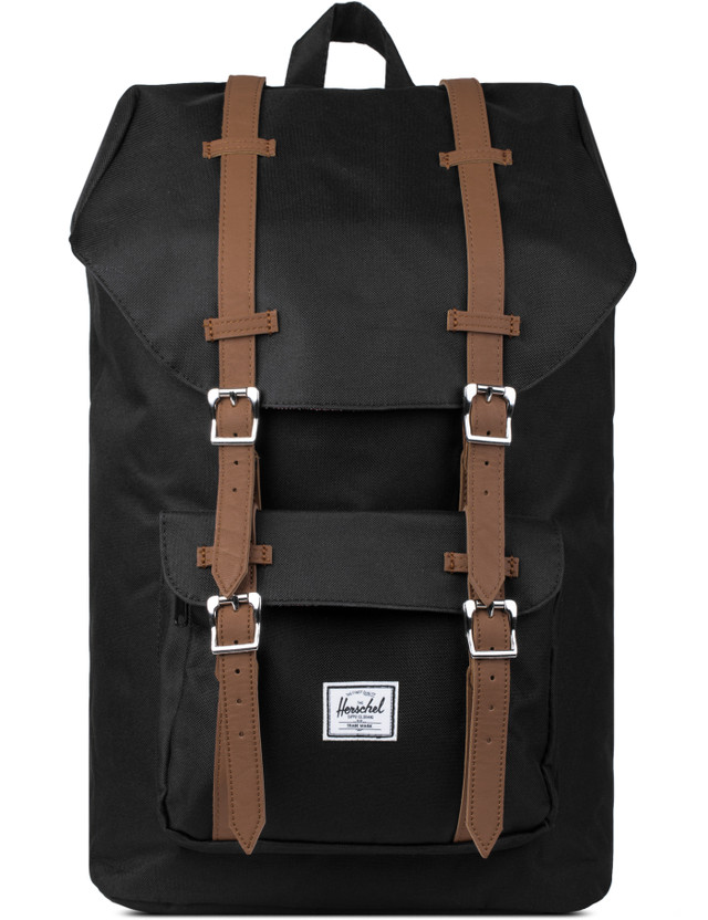 15b0586f598 Herschel Supply Co. - Black Tan PU Little America Backpack