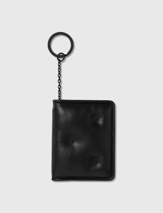 Maison Margiela Glam Slam Card Holder With Key Ring Black Men