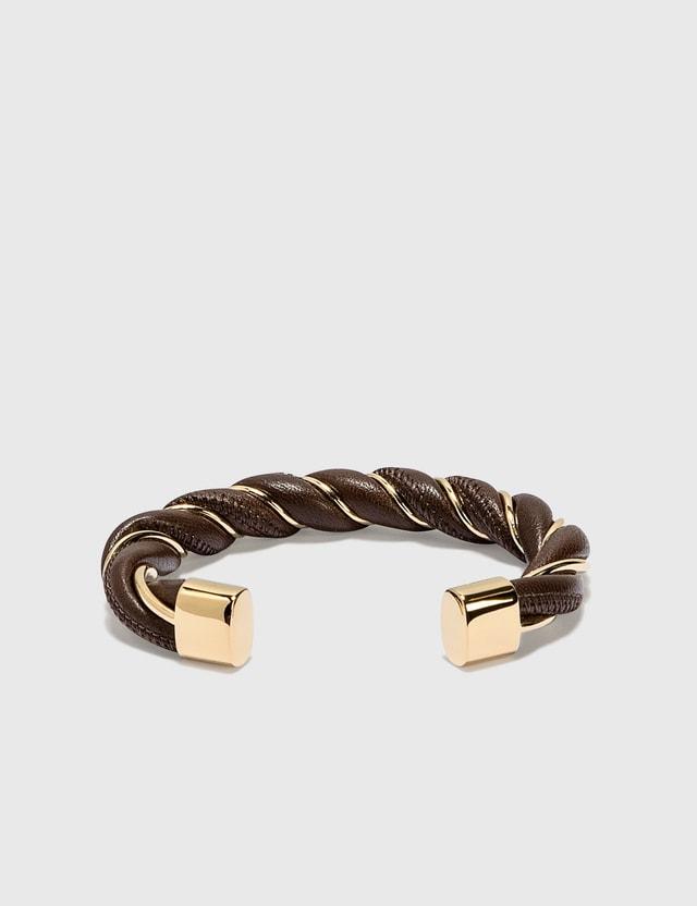 Bottega Veneta Twist Bracelet Brownie Women