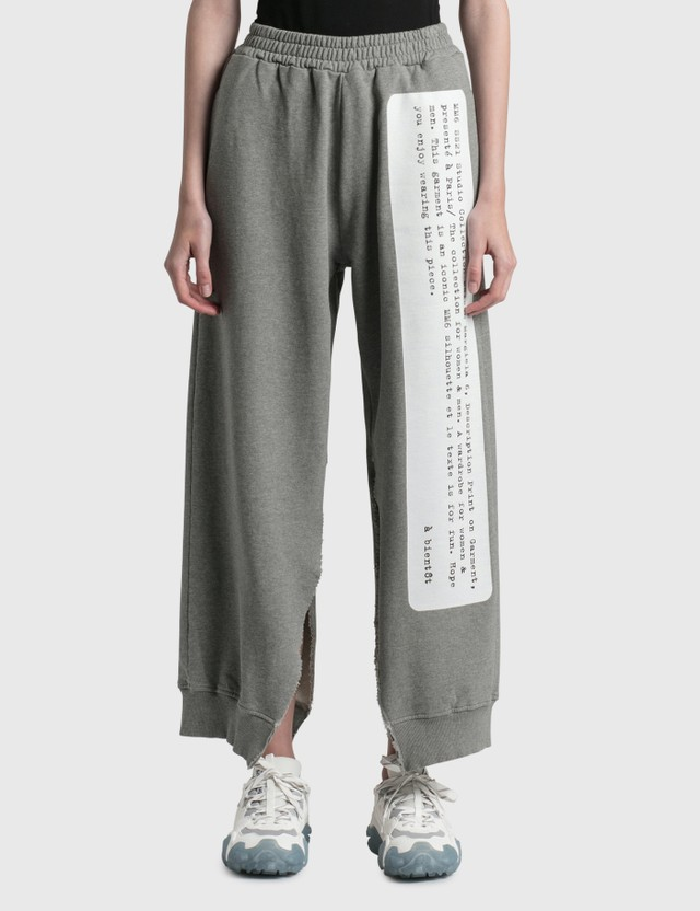 MM6 Maison Margiela Archive Print Sweatpants Grey Melange Women