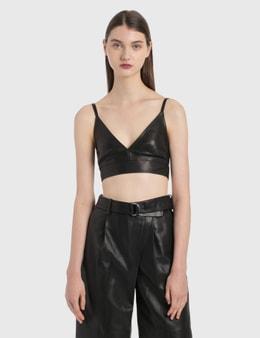 Helmut Lang Leather Bra Top