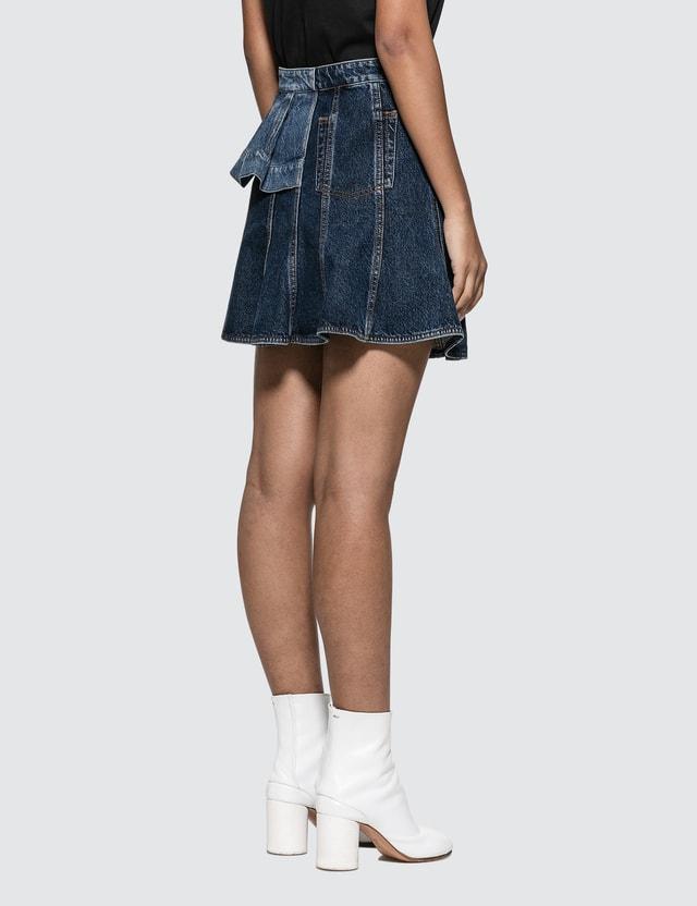 Alexander McQueen Pieced Denim Mini Skirt Blue Women
