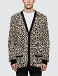 Wacko Maria Leopard Jacquard Cardigan Picutre