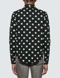 Saint Laurent Polka Dot Western Shirt Black  Men