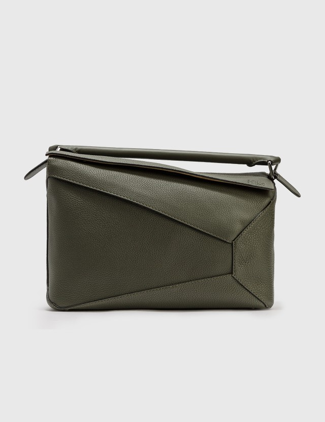 Loewe Large Puzzle Edge Bag Dark Khaki Green Men